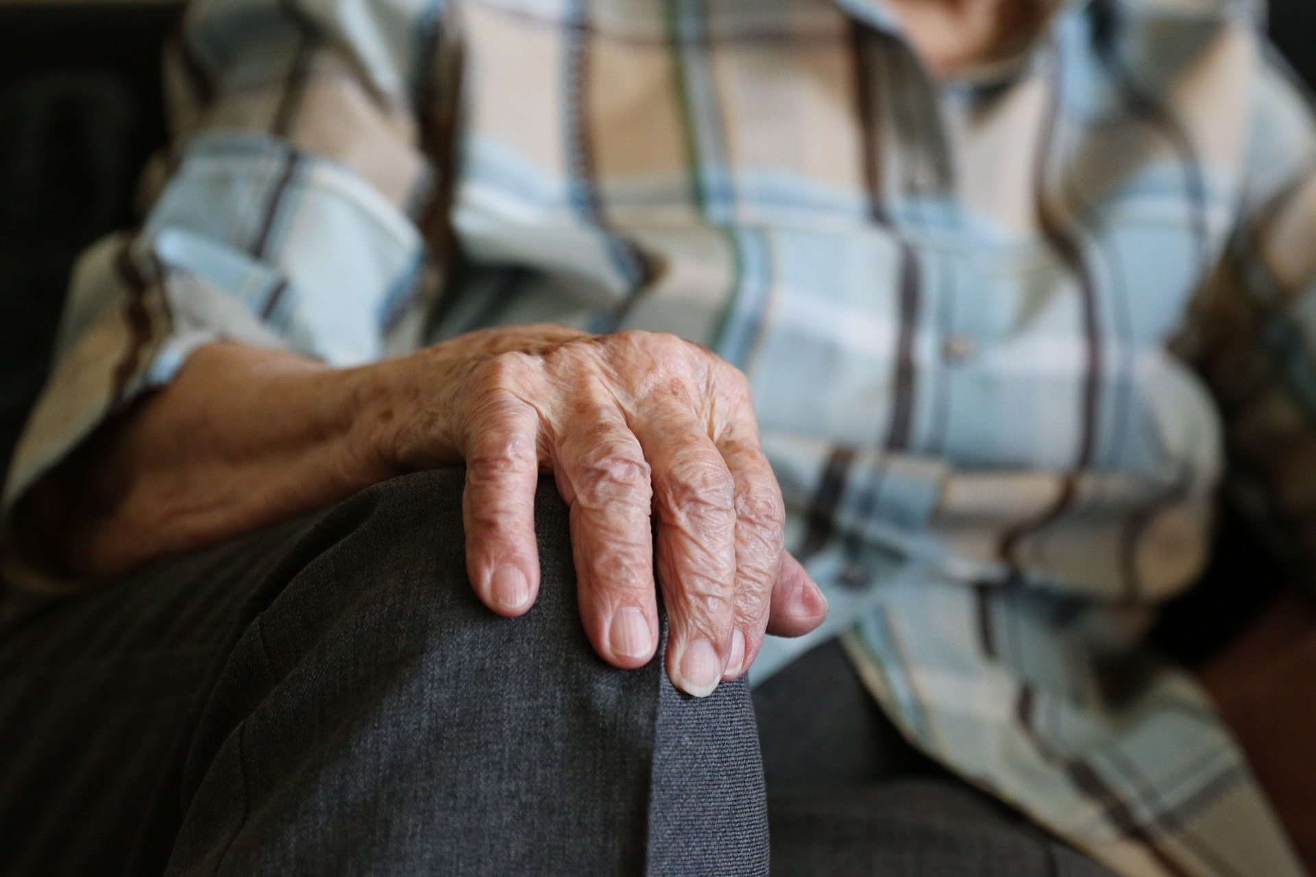 photo of an older person's hand