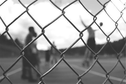 chain fence young people