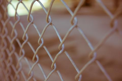 picture of chain link fence